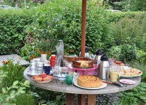 Appel-, abrikozen- en kwarktaart & thee!